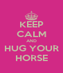 KEEP CALM AND HUG YOUR HORSE - Personalised Poster A4 size