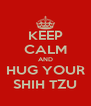 KEEP CALM AND HUG YOUR SHIH TZU - Personalised Poster A4 size
