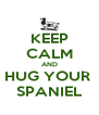 KEEP CALM AND HUG YOUR  SPANIEL - Personalised Poster A4 size