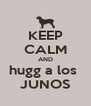 KEEP CALM AND hugg a los  JUNOS - Personalised Poster A4 size