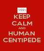 KEEP CALM AND HUMAN CENTIPEDE - Personalised Poster A4 size