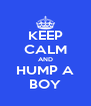 KEEP CALM AND HUMP A BOY - Personalised Poster A4 size