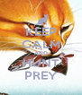 KEEP CALM AND HUNT PREY - Personalised Poster A4 size