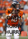 KEEP CALM AND HURRY HURRY - Personalised Poster A4 size