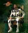 KEEP CALM AND HUTCHER ON - Personalised Poster A4 size