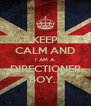 KEEP CALM AND I AM A  DIRECTIONER BOY... - Personalised Poster A4 size