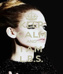 KEEP CALM AND I AM L.B.S. - Personalised Poster A4 size