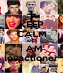 KEEP CALM AND I AM lovactioner - Personalised Poster A4 size