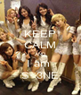 KEEP CALM AND I am  S<3NE - Personalised Poster A4 size