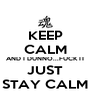 KEEP CALM AND I DUNNO...FUCK IT JUST STAY CALM - Personalised Poster A4 size