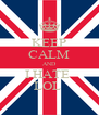 KEEP CALM AND I HATE  LOL  - Personalised Poster A4 size