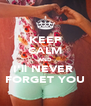 KEEP CALM AND I'll NEVER  FORGET YOU - Personalised Poster A4 size