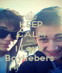 KEEP CALM AND I Love  Boyliebers  - Personalised Poster A4 size