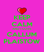 KEEP CALM AND I LOVE CALLUM PLAISTOW - Personalised Poster A4 size