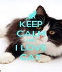 KEEP CALM AND I LOVE CAT - Personalised Poster A4 size