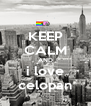 KEEP CALM AND i love celopan - Personalised Poster A4 size