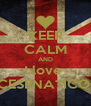 KEEP CALM AND I love  CESENATICO  - Personalised Poster A4 size