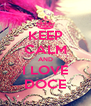 KEEP CALM AND I LOVE DOCE - Personalised Poster A4 size
