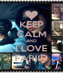 KEEP CALM AND I LOVE FARIID - Personalised Poster A4 size