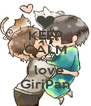 KEEP CALM AND I love GiriPan - Personalised Poster A4 size