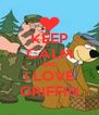 KEEP CALM AND I LOVE GRIFFIN - Personalised Poster A4 size