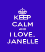 KEEP CALM AND I LOVE.. JANELLE - Personalised Poster A4 size