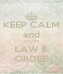 KEEP CALM and I LOVE LAW & ORDEE - Personalised Poster A4 size