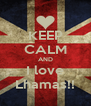 KEEP CALM AND I love Lhamas!! - Personalised Poster A4 size