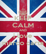 KEEP CALM AND i love marco carta - Personalised Poster A4 size