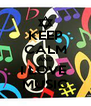 KEEP CALM AND I LOVE  MUSIC - Personalised Poster A4 size
