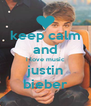 keep calm and i love music justin bieber - Personalised Poster A4 size