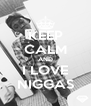 KEEP CALM AND I LOVE NIGGAS - Personalised Poster A4 size
