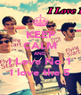 KEEP CALM AND I Love No 1 I love the 5 - Personalised Poster A4 size