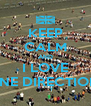 KEEP CALM AND I LOVE ONE DIRECTION! - Personalised Poster A4 size