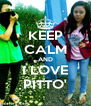 KEEP CALM AND I LOVE PITTO' - Personalised Poster A4 size