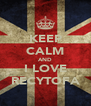 KEEP CALM AND I LOVE RECYTOFA - Personalised Poster A4 size