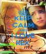 KEEP CALM AND I LOVE REX - Personalised Poster A4 size