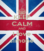 KEEP CALM AND I love simone - Personalised Poster A4 size