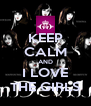 KEEP CALM AND I LOVE THE GIRLS - Personalised Poster A4 size