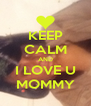 KEEP CALM AND I LOVE U MOMMY - Personalised Poster A4 size