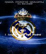 KEEP CALM AND I  love you and Real Madrid  - Personalised Poster A4 size