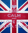 KEEP CALM AND I LOVE YOU FILIPA SILVA - Personalised Poster A4 size