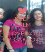 KEEP CALM AND I LOVE YOU MY CARROTS - Personalised Poster A4 size