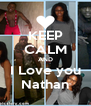 KEEP CALM AND I Love you Nathan - Personalised Poster A4 size