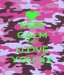 KEEP CALM AND I LOVE YOU XX - Personalised Poster A4 size