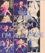 KEEP CALM AND I'M A SLAVE 4 U - Personalised Poster A4 size