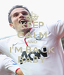 KEEP CALM AND I'M BACK BABY - Personalised Poster A4 size