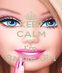 KEEP CALM AND I'm Barbie Girl - Personalised Poster A4 size