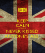 KEEP CALM AND I'VE NEVER KISSED ANYONE'S ASS  - Personalised Poster A4 size