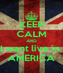 KEEP CALM AND I want live in  AMERICA - Personalised Poster A4 size